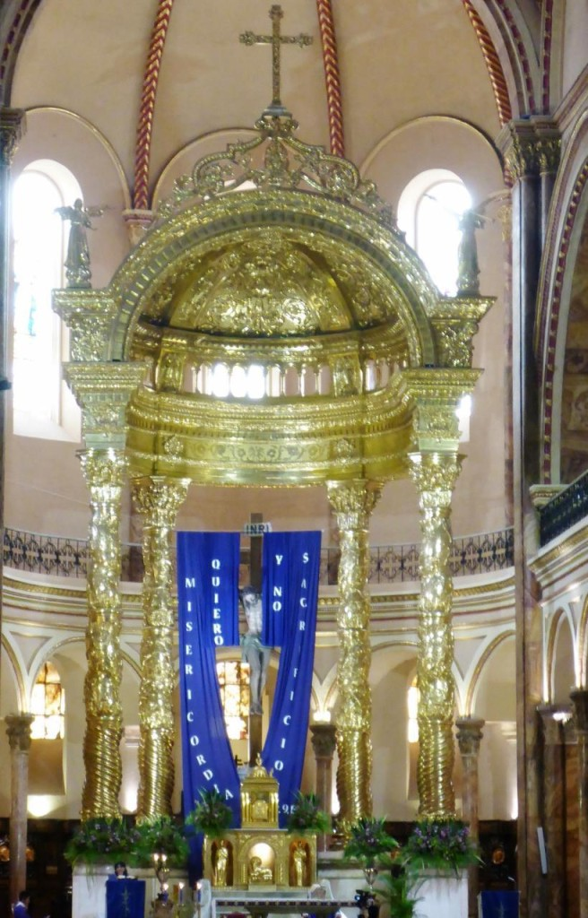 The altar of the new cathedral.