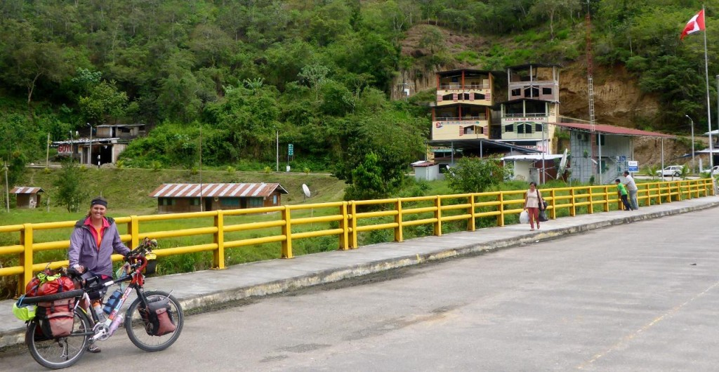 Puente Internacional, La Balsa. A picture of a picture of the border crossing from Ecuador to Peru. By 3pm 6 other people had crossed here.