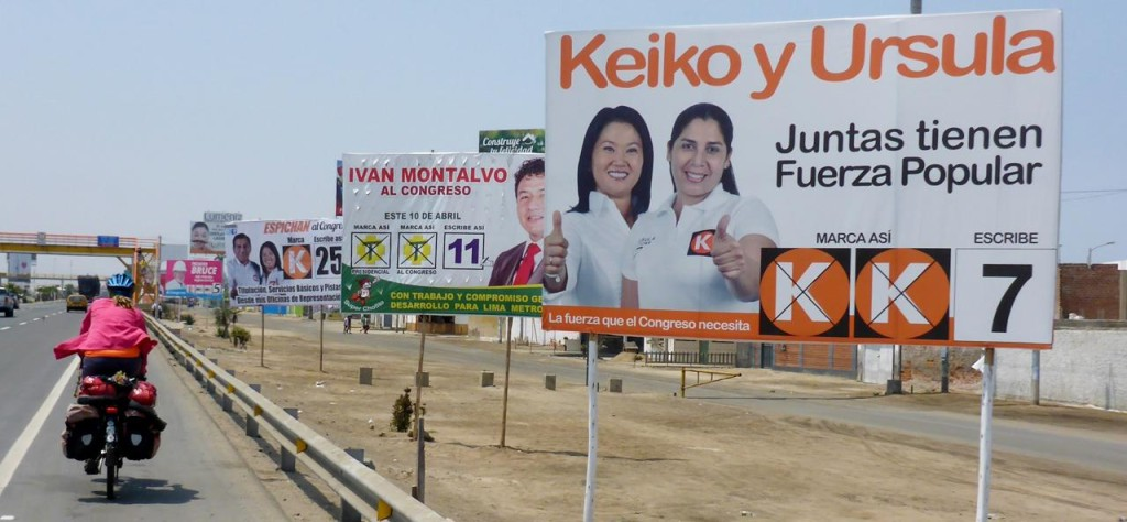 Presidential election in Peru next month. 35 people and 35 parties.