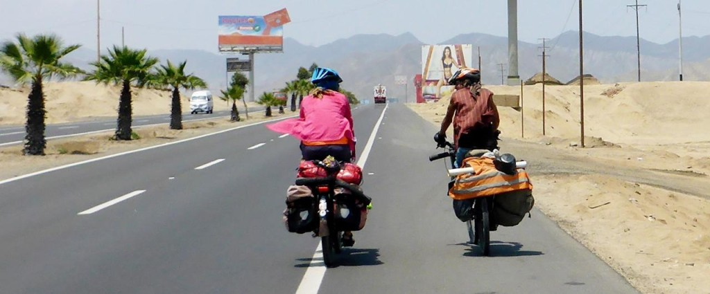 We met a Colombian cycling to Bolivia.