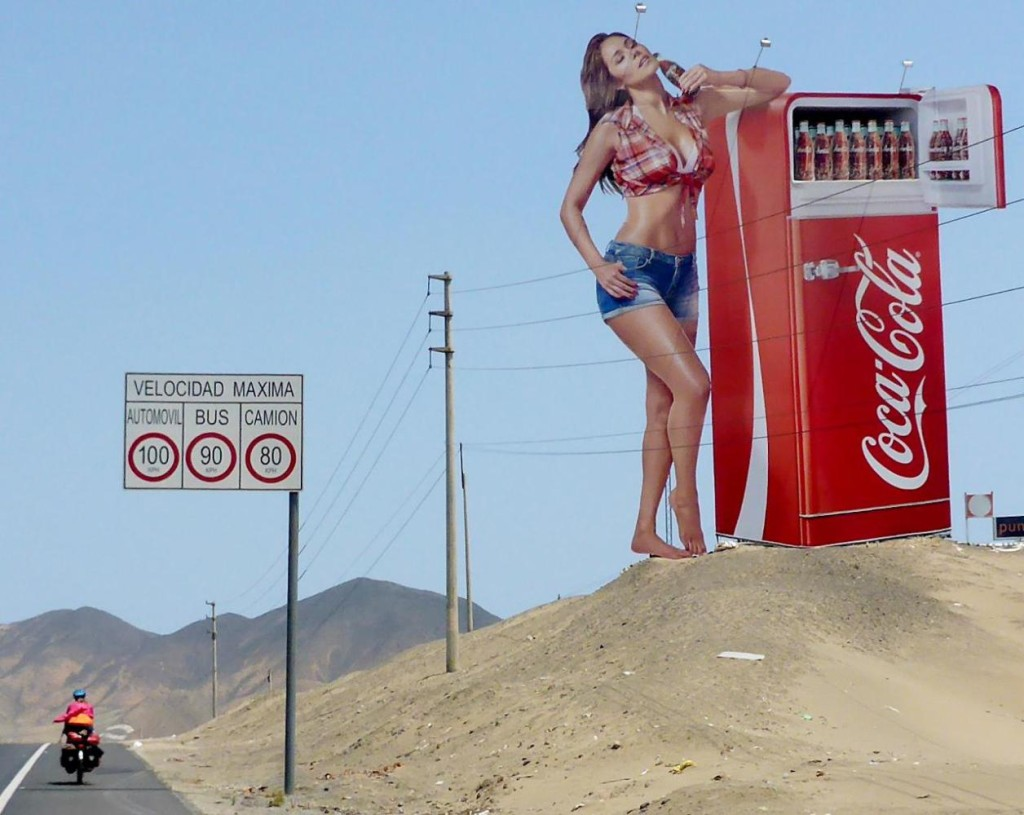 Huge billboard.