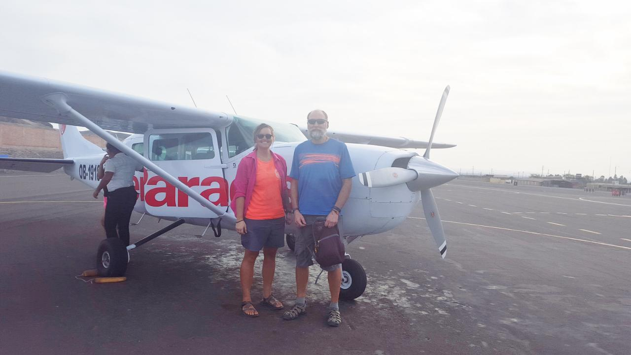 After our flight to see the Nasca Lines.
