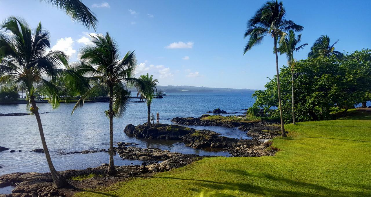 The view from our hotel in Hilo.