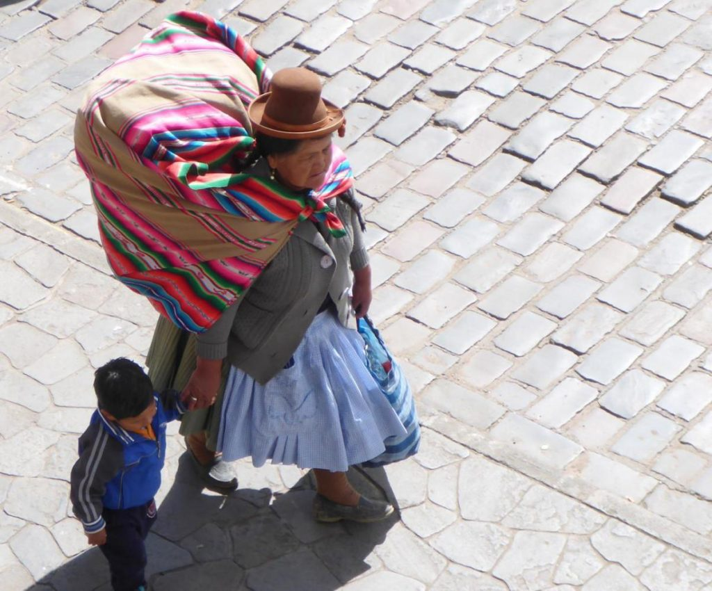 A typical Peruvian village woman.