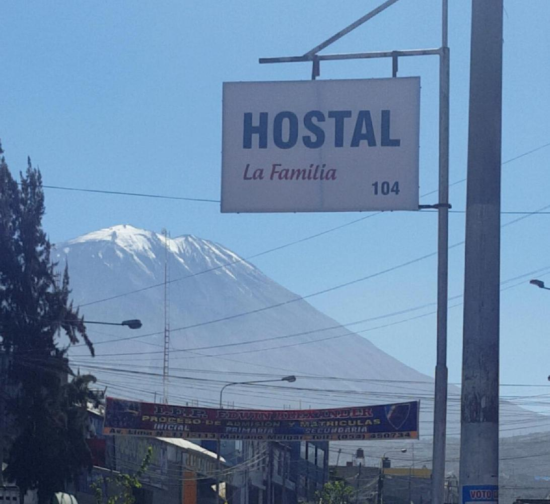 Arequipa, Peru is in a large valley with three volcanoes. This is one of them.