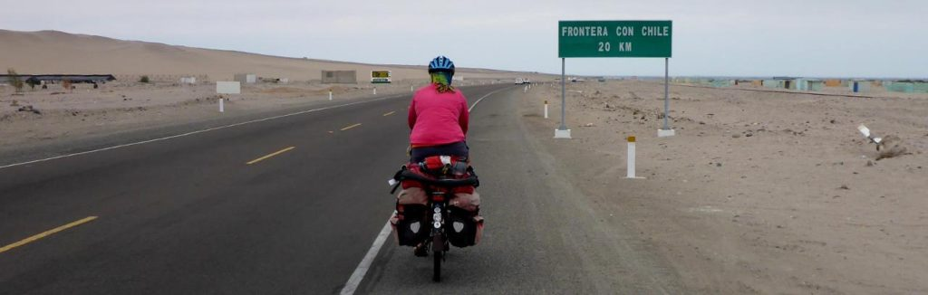 Riding towards Chile.