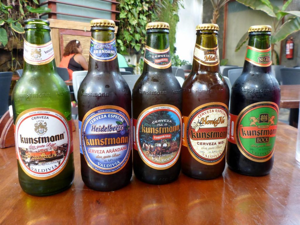 A nice choice of German beers brewed and bottled in Chile.
