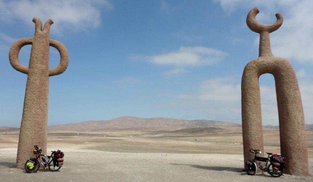 Random statues in the Chilean desert.