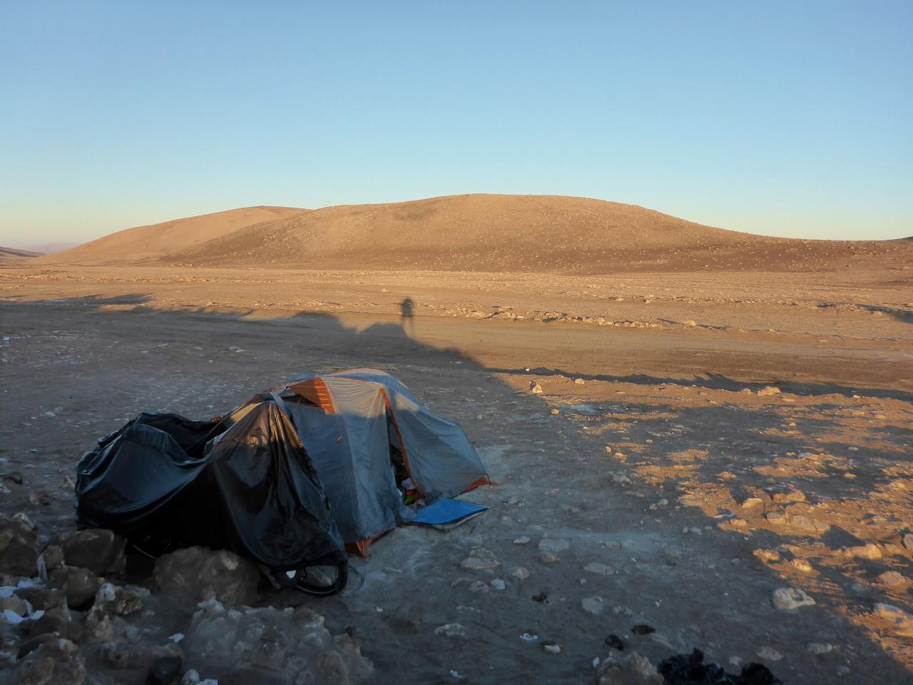 Sunrise at our roadside camp.