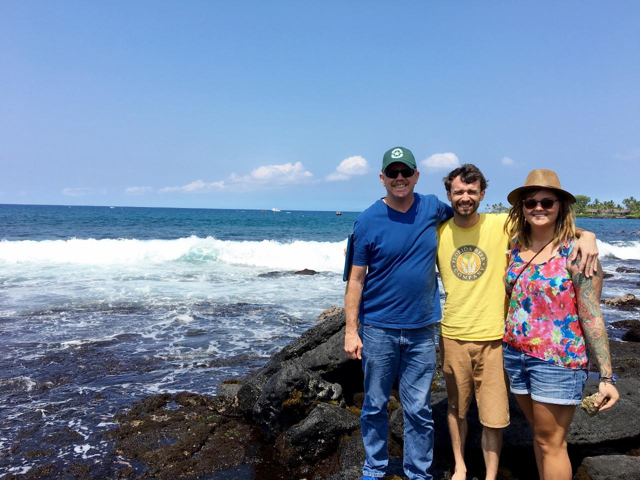 A few more pictures from Hawaii, thanks to my sister Tish. My son Cary, Jocelyn and their Uncle Jim.