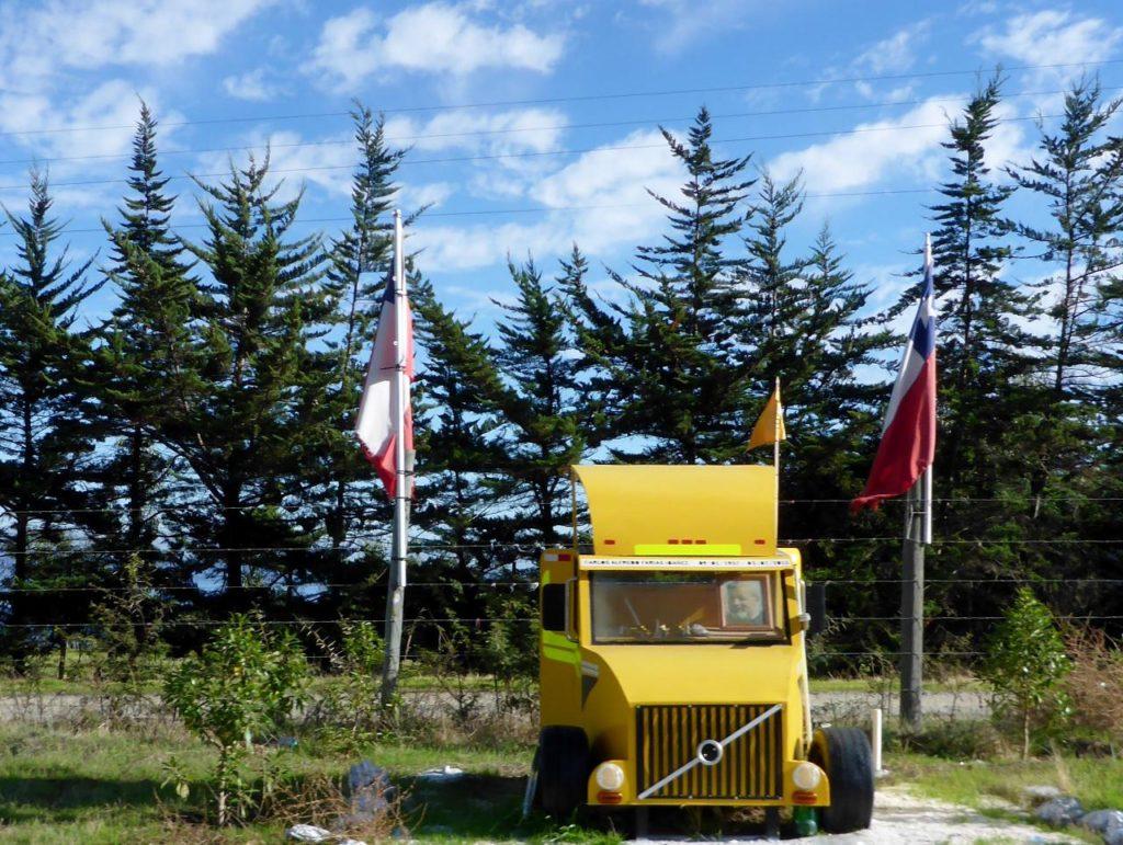 A truck driver's memorial.