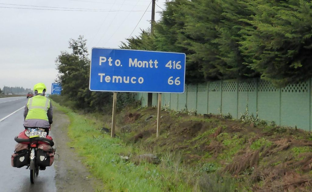 Our goal of Puerto Montt. We will take a round-about way of getting there.