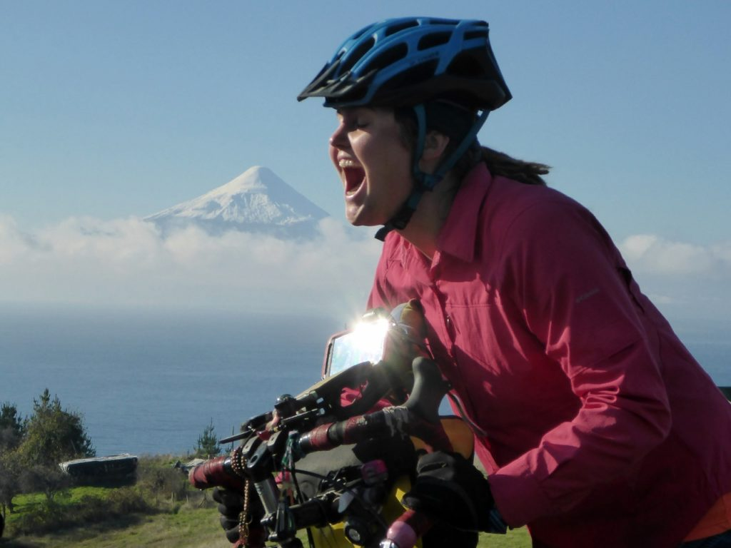 Taking a bite out of Volcan Osorno.