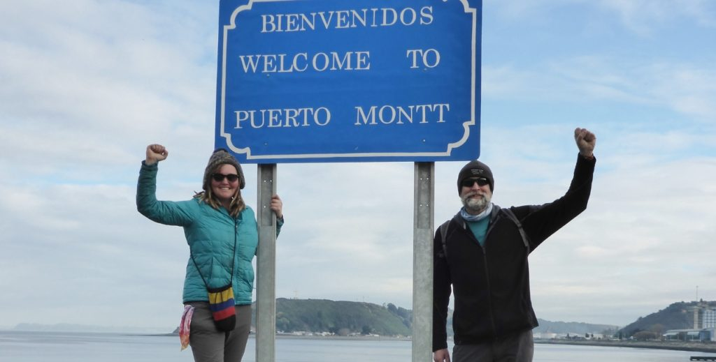 Puerto Montt, Chile achieved! The end of our North American to South American bicycling adventure.