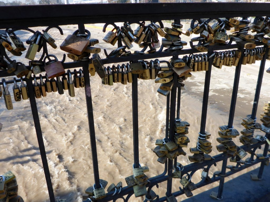 "At many gathering places around the world we have seen ""lovers locks""."