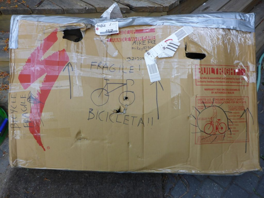 "I'm glad Jocelyn wrote ""fragile"" on the bike boxes."