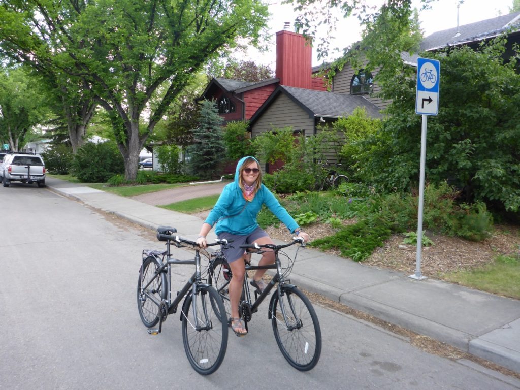 I re-assembled my bike and rode it to the bike shop. Jocelyn followed rolling my rental bike.