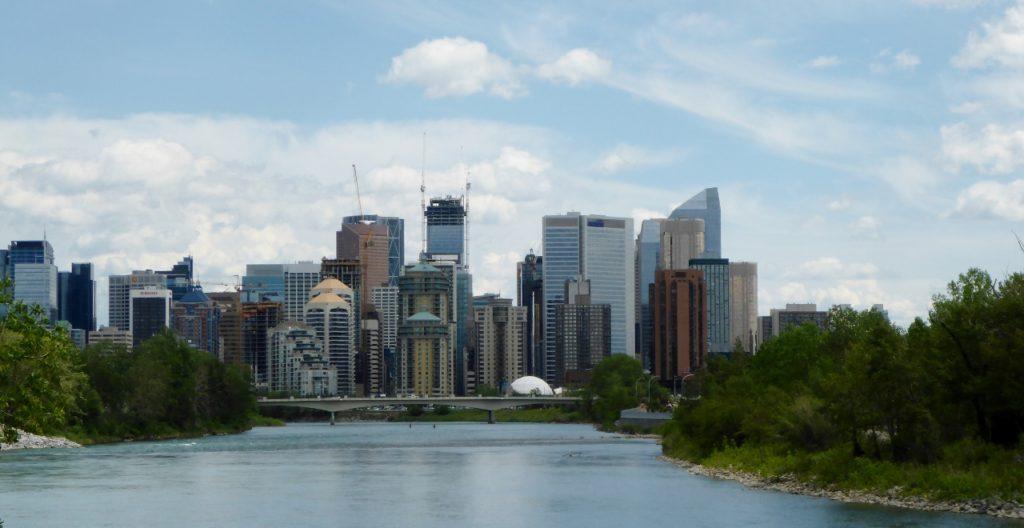 The Calgary skyline.