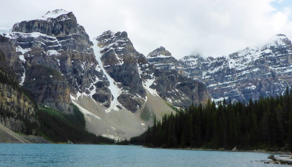 The Valley of the Ten Peaks at Lake Moraine.