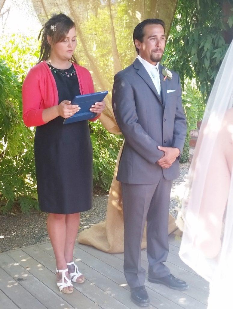 Jocelyn officiated Jamie and Makani's wedding!