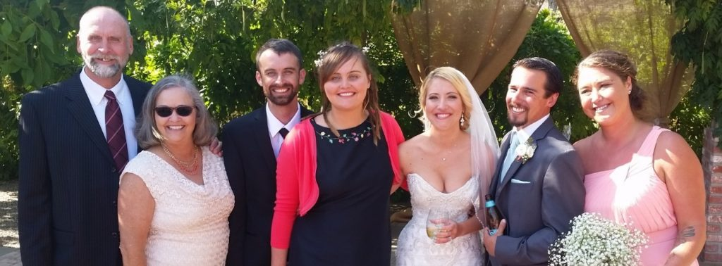 A part of our family reunion at Jamie and Makani's wedding. We flew from Peru to Hawaii in April to attend my other niece's wedding Mariah, Makani's sister,(on the right). Also there was my sister Tish and brother-in-law Jim.