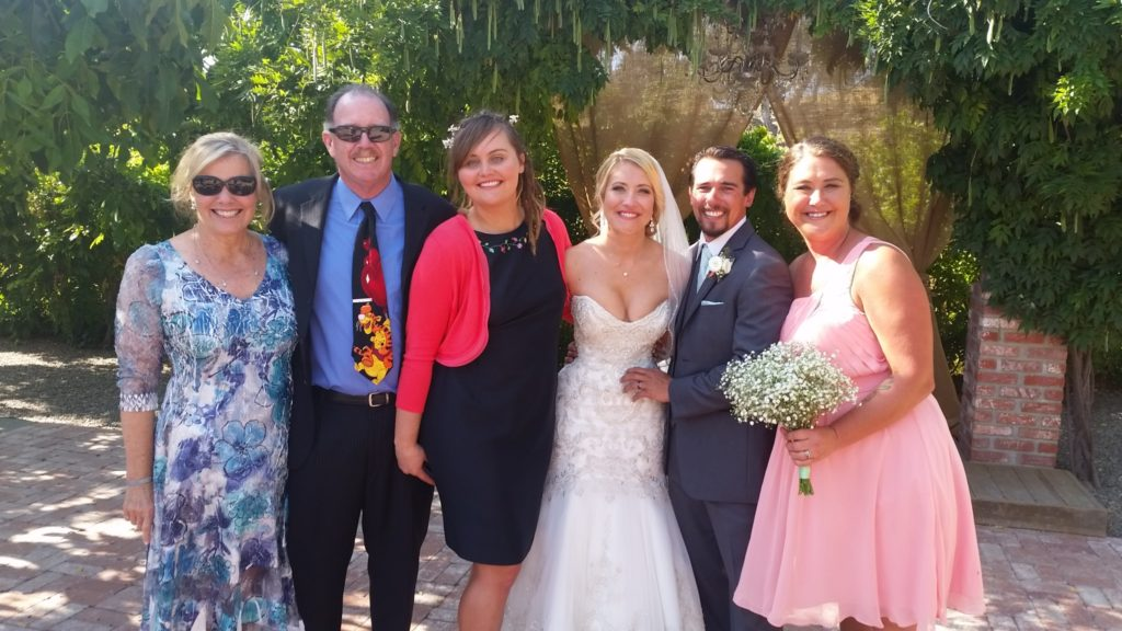 My sister Tish, brother-in-law Jim, Jocelyn, Makani, Jamie, and Mariah.