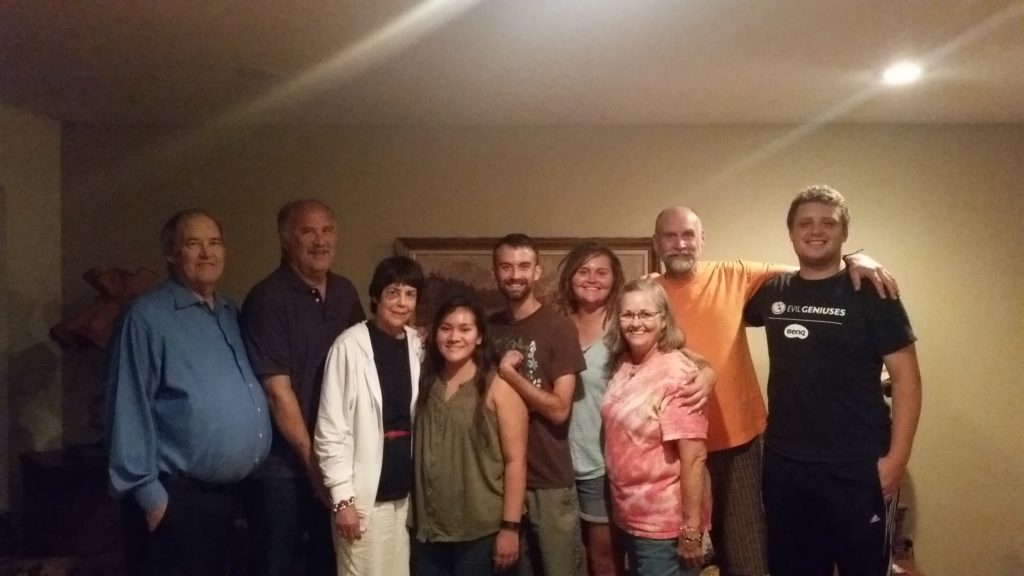A reunion with two of Andee's brothers and their families.