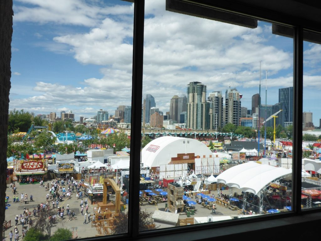 A view from the rodeo venue.