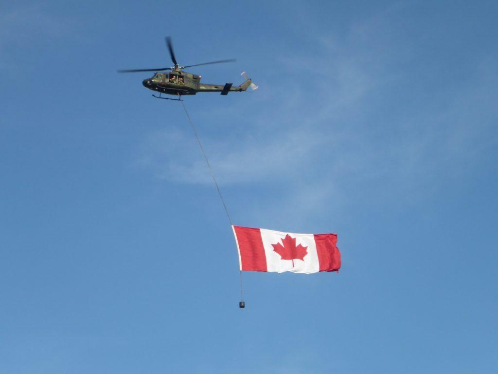 A very fine Canadian flag.