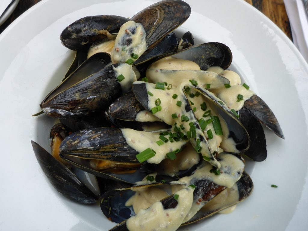 Mussels for lunch.