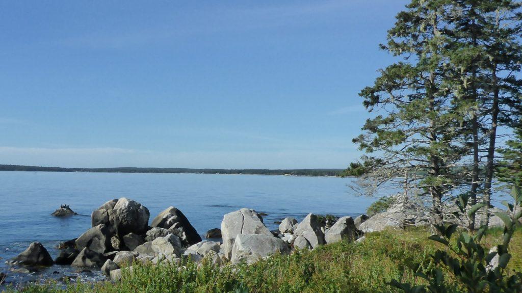 The Atlantic Ocean in Nova Scotia.
