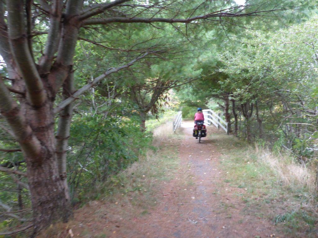 Jocelyn found a rail trail that got a little too rough.