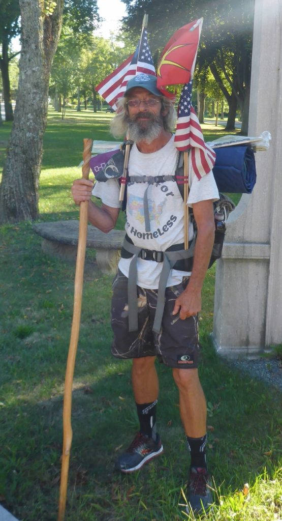 Leroy is hiking the perimeter of the U.S. He has been out 2 1/2 years and on his way home to Virginia Beach.
