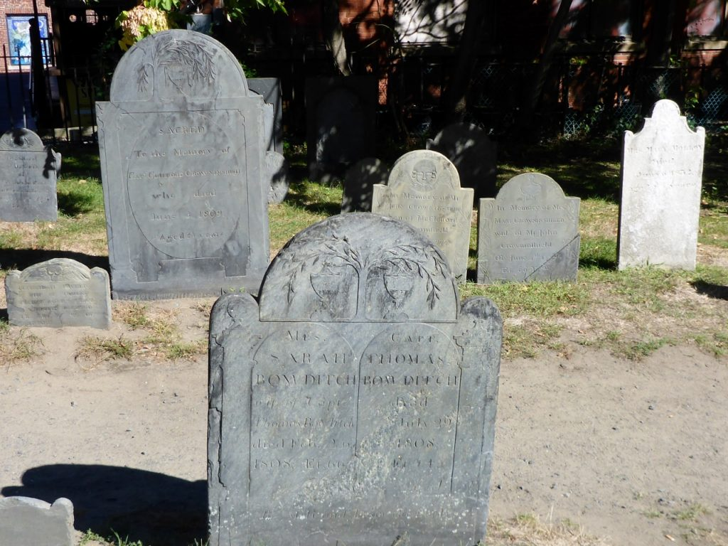 The Salem cemetery. The inscriptions are interesting.