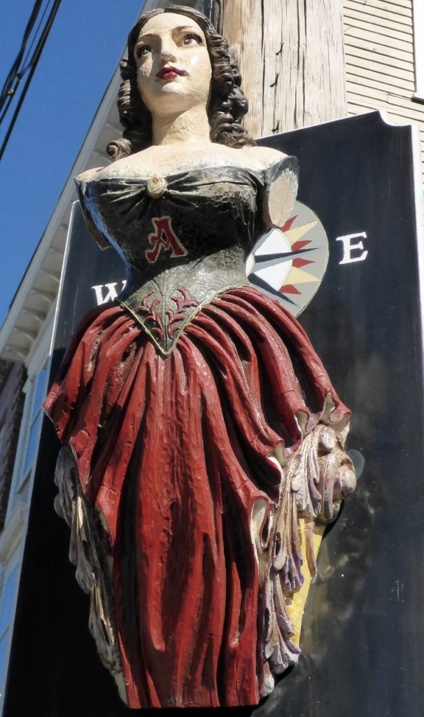 A ship's figurehead.