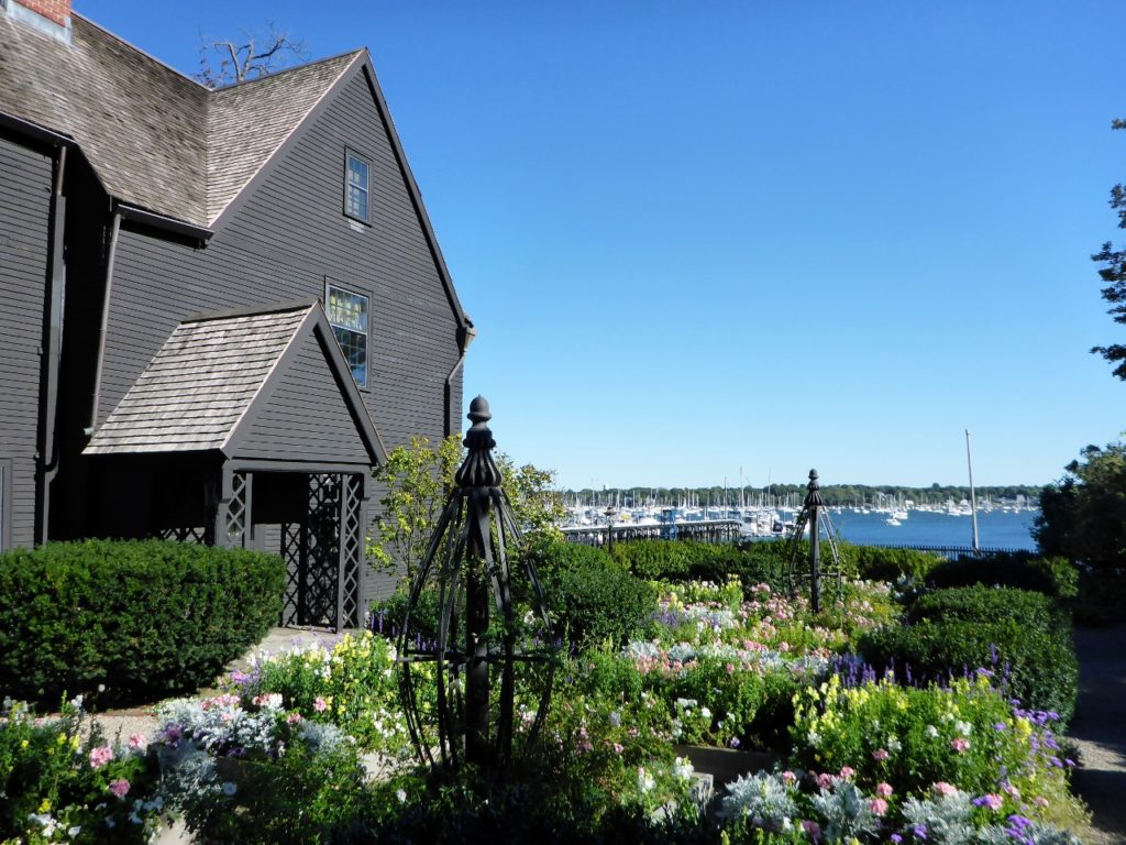 A view from the Nathaniel Hawthorne's birthplace in Salem - the House of the Seven Gables 1668.
