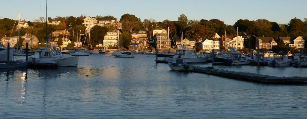 Sunset in Gloucester Harbor.