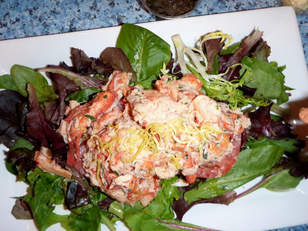 Andee had lobster salad.