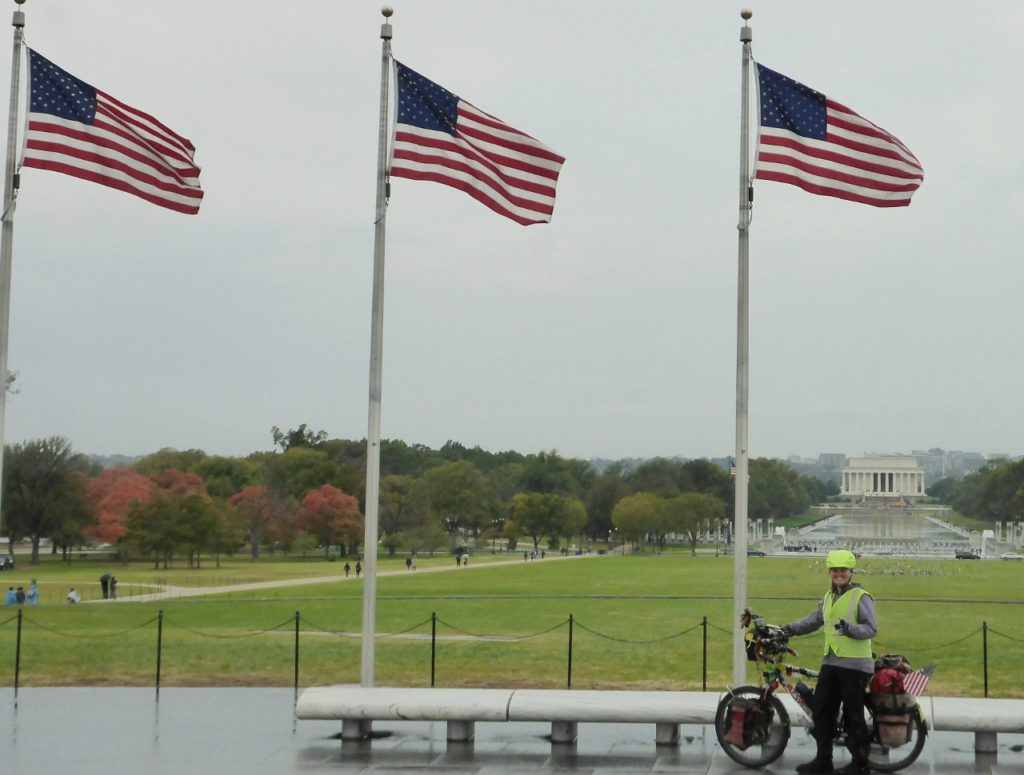 Looking at the Lincoln Memorial.