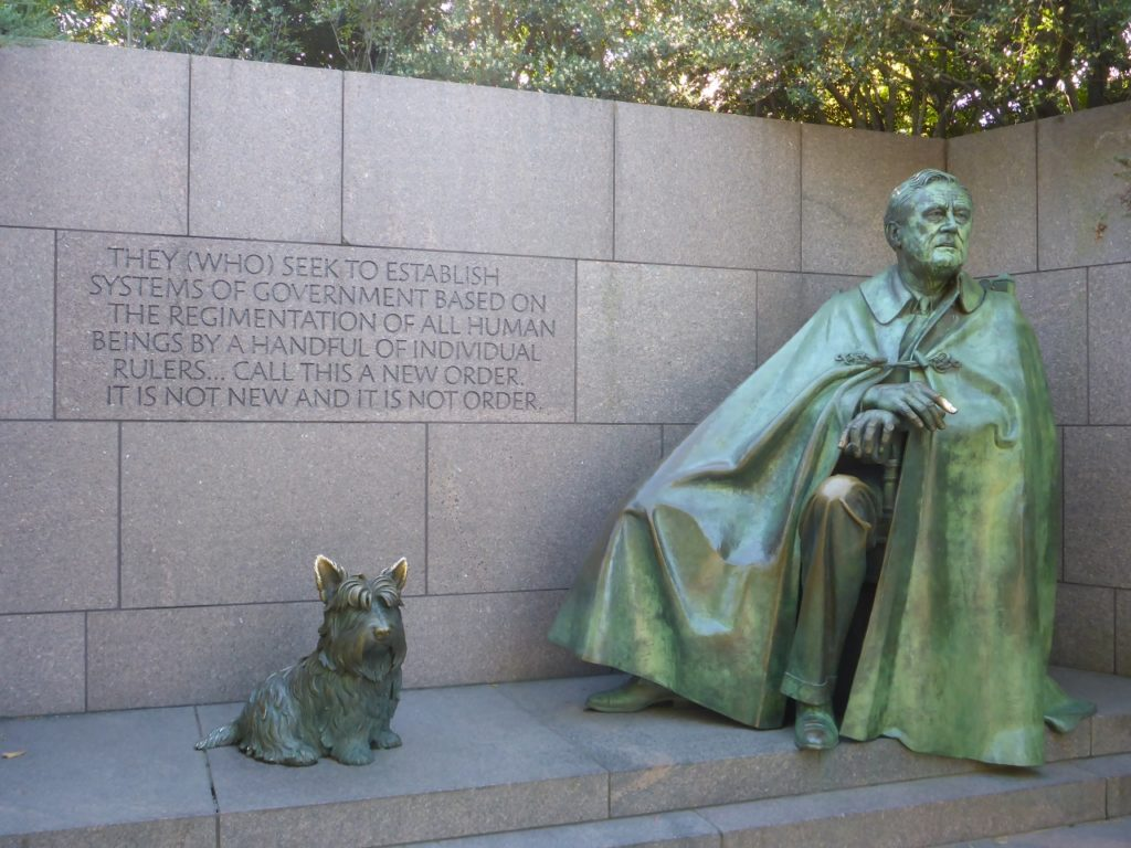 Franklin Delano Roosevelt Memorial.
