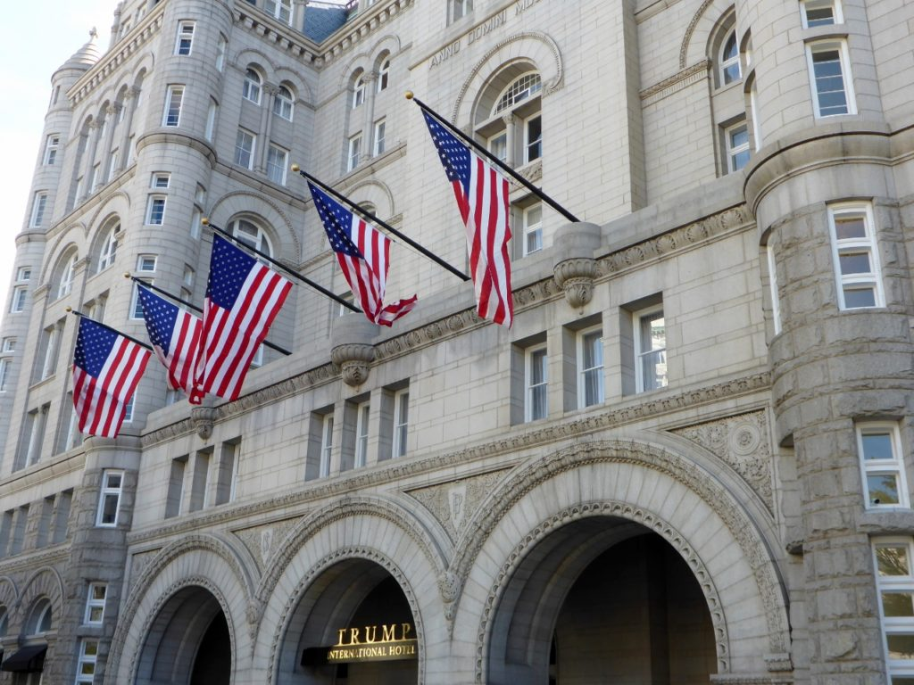 Trump just opened his new hotel in DC this week.