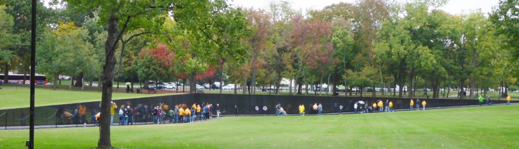 The Vietnam Memorial Wall.