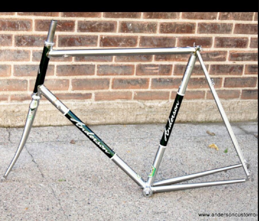 Raj, our host in New York, had this stainless steel bike frame made.