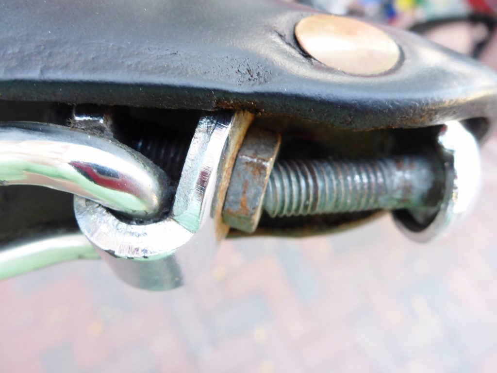 My leather Brooks B-17 tensioning bolt broke. It was very uncomfortable for several days.