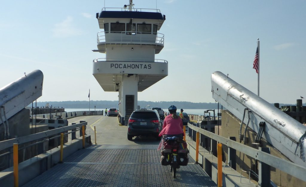 The ferry from Jamestown to Scotland (Virginia!).