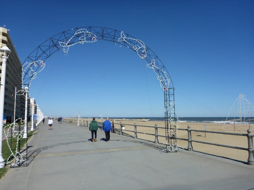 Virginia Beach boardwalk.