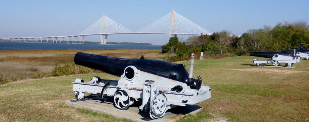We rode from Mount Pleasant to Charleston across the Arthur Ravenel Jr. Bridge.