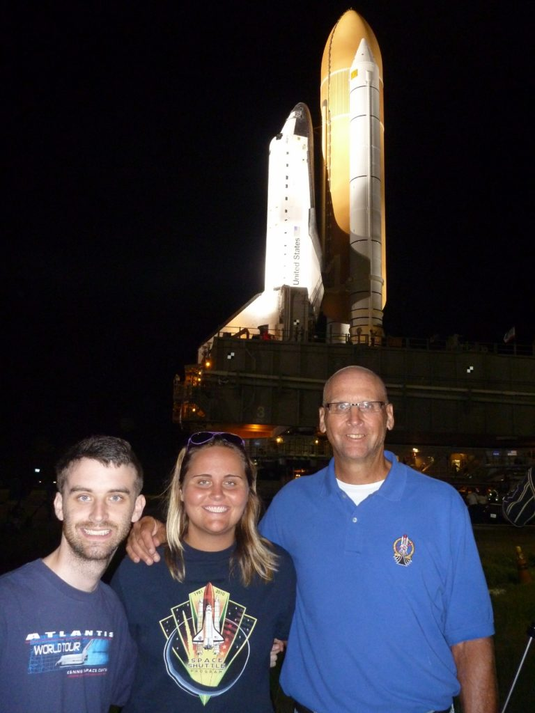Cary, Jocelyn and me at the last shuttle rollout to the launch pad in 2011.