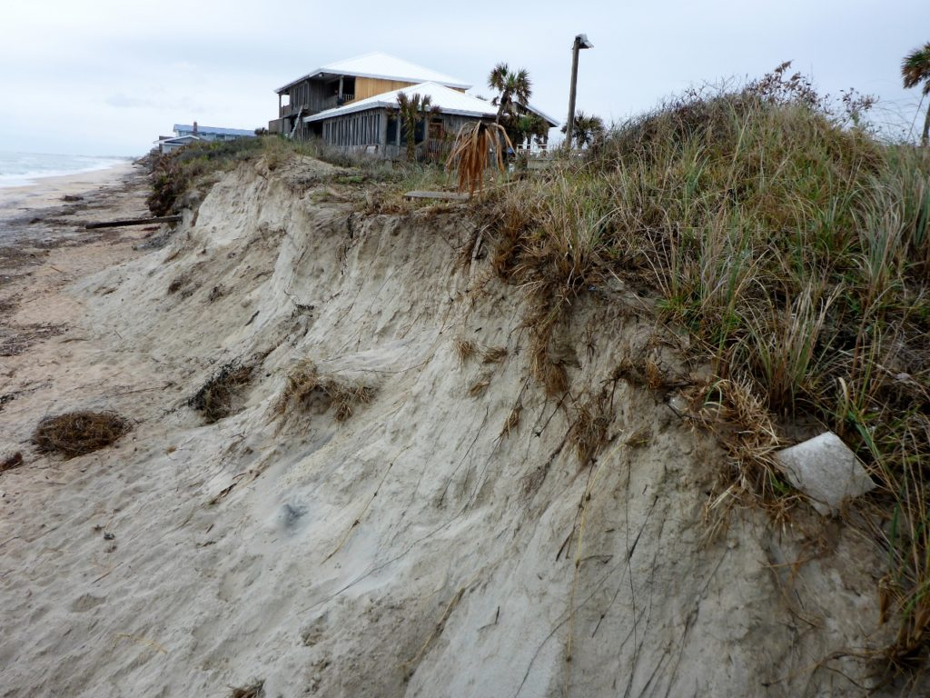 Lots of storm erosion.