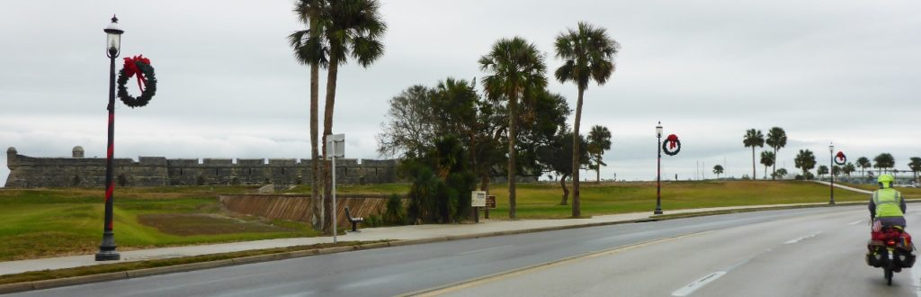 The old Spanish fort in St. Augustine.